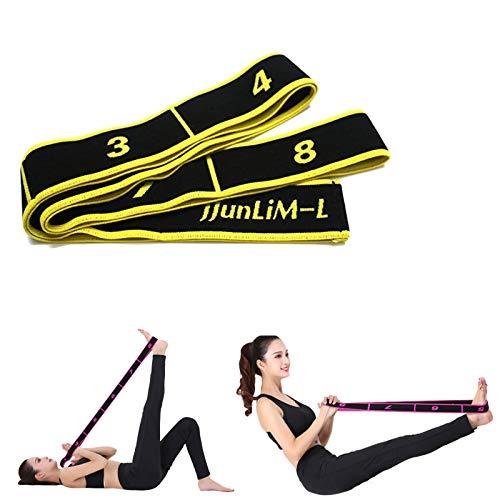 JJunLiM Bandes de Boucle d'exercice Bandes Latines Extensibles 15-20 kg Bandes élastiques de Yoga Pilates Résistance Fitness Bandes de Formation de Danse élastique Gymnastique (90cm Yellow)