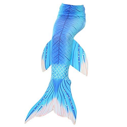 YISHU Meerjungfrauenflosse zum Schwimmen Kinder Erwachsene Kostüm Meerjungfrauenschwanz für Mädchen und Damen Muster-E Erwachsene S