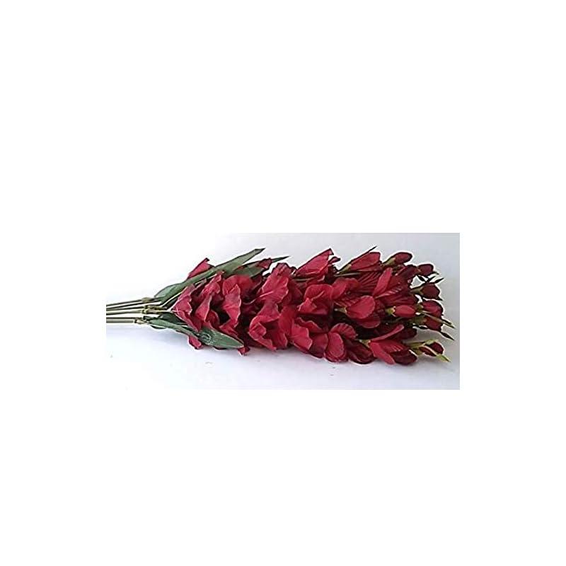 "silk flower arrangements 30"" gladiolus bush silk wedding bouquet flowers 8 stems"