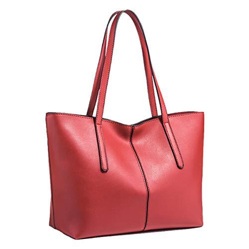 Monitika Donna Borse a mano Nuovo Grande Capacità moda Borse a spalla Borse a tracolla Borse Tote Rosso