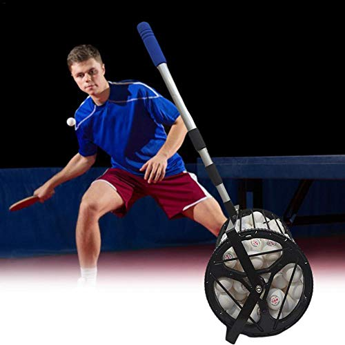 AITOCO Mini Smooth Rolling Ball Picker Obermaterial mit 125 Tennisbällen mit Ballsammler für Tennis