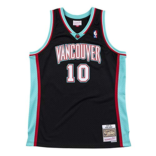 Mitchell & Ness NBA Swingman Mike Bibby Vancouver Grizzlies 2000-01 Hardwood Classics, color negro
