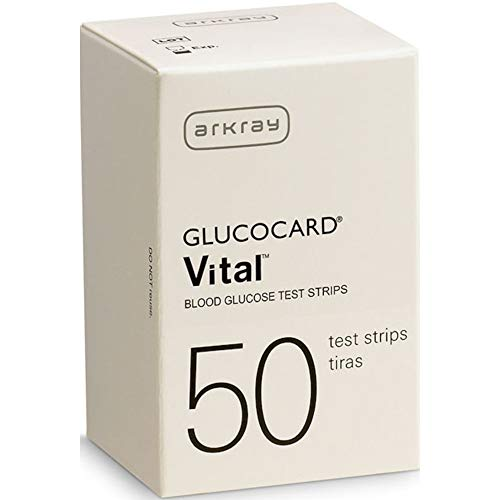 Arkray Glucocard Vital Blood Glucose Test Strips 150 Count(3 Boxes of 50)