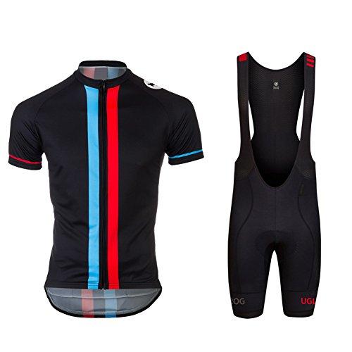 Uglyfrog Bike Wear De Manga Corto Conjunto Traje Equipacion Ciclismo Hombre Verano con 3D Acolchado De Gel, Maillot Ciclismo + Pantalon/Culote Bicicleta para MTB Ciclista Bici