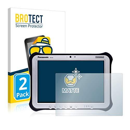 BROTECT 2X Entspiegelungs-Schutzfolie kompatibel mit Panasonic Toughpad FZ-G1 Bildschirmschutz-Folie Matt, Anti-Reflex, Anti-Fingerprint