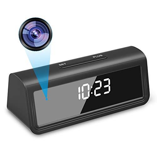 Spy Camera, Monja UHD 4K WiFi Hidden Cam, Original Desktop Surveillance Clock with Audio, Wireless Nanny Cam, IR Night Vision, 160° Angle Recorder, Motion Detection for Indoor Home Security