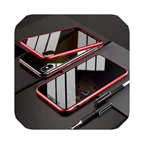Carcasa magnética de doble cara para iPhone 11 Pro XS Max XR X 8 7 Plus de cristal templado para iPhone 8 7