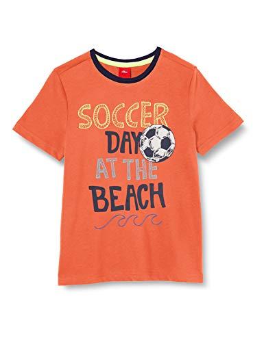 s.Oliver Junior Jungen 404.10.005.12.130.2038793 T-Shirt, 2580 orange, 128/134/REG