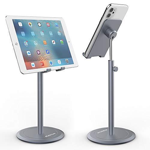 steanum Soporte Móvil, Aleación de Aluminio Soporte para Teléfono Ajustable Tabletas Móvil Teléfono Soporte para iPhone 11/11 Pro/11 Pro MAX/XS/XS MAX/XR/X/8, Galaxy S20/10/9, 7-12.9 Inches Devices