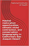 Habitat restoration opportunities, climatic niche contraction, and conservation biogeography in California's San Joaquin Desert (English Edition)