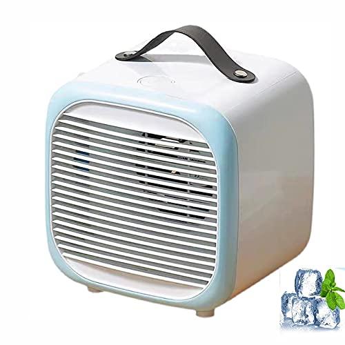 Hou Hexin Trade Mini-Luftkühler 3 in 1 tragbarer Mini-Klimaanlage, Luftkühler- und Luftbefeuchter-Lüfter Persönlicher Raum Luftkühler für Zuhause und Büro