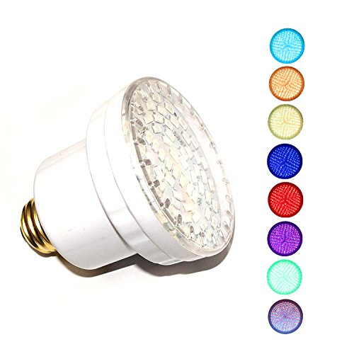 LAMPAOUS LED SPA Bulb, 15 Watt E26 LED Pool Bulb, 5 Color Show and 7 Solid Colors LED Hot Tub Replacement Bulb inground Lights Fixture, 120VAC Input