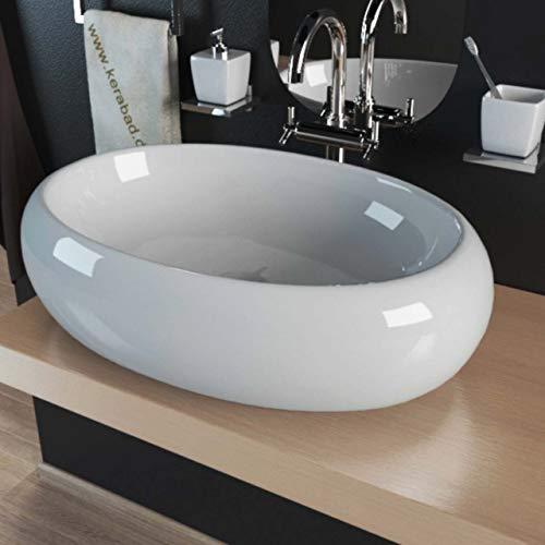 Waschbecken KBW252 Keramik Waschtisch Waschschale Aufsatzwaschbecken