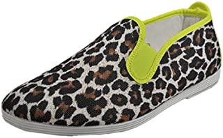 Flossy Ecija Notched-Vamp Leopard-Print Slip-On Shoes for Women