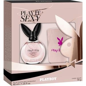 Playboy Play It Sexy - Juego de regalo de perfume para mujer (eau de toilette en spray de 40 ml + vela perfumada 1 unidad)