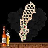 Suède Bière Casquette Carte Bois Casquette Titulaire Skyline Atelier Bière Artisanat Pour Amateurs De Bière Mur Décor 109 Couleurs à Choisir