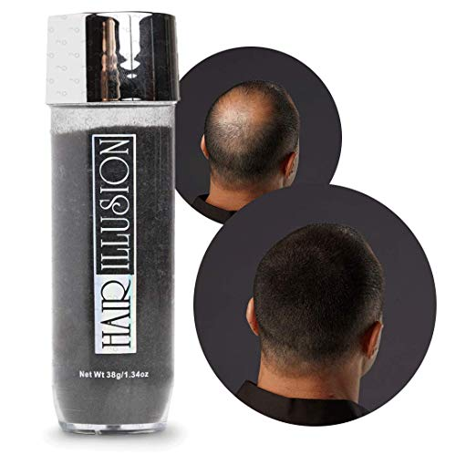 HAIR ILLUSION Hair Fibers for the Balding, Thinning Hair of Men and Women 100% Natural Texture Hair Loss Concealer