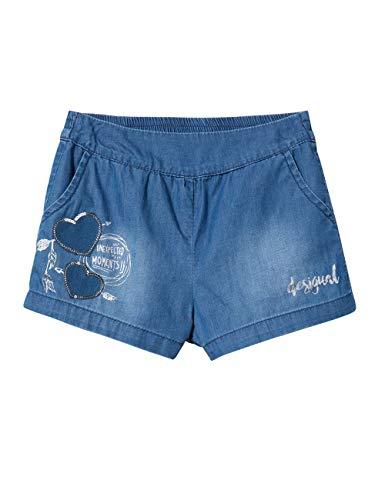 Desigual Girl Short Trousers (Denim_buendia) Pantalones Cortos, Azul (Jeans 5006), 164 (Talla del Fabricante: 13/14) para Niñas