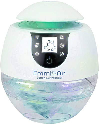 Emmi®-Air Ionen Luftreiniger fördert das Frische Gefühl – Raumluft dauerhaft säubern gegen Staub, Bakterien, Vieren, Pollen, Tierhaare