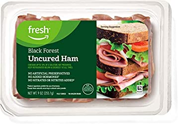 Fresh Brand – Sliced Black Forest Uncured Ham, 9 oz