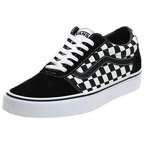 Vans Ward Canvas, Sneaker Uomo, Checker Black True White Pvj, 42 EU