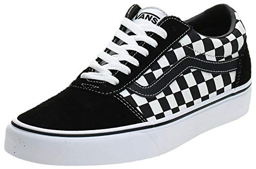 Vans Herren Ward Canvas Sneaker, Schwarz ((Checker) Black/True White Pvj), 43 EU