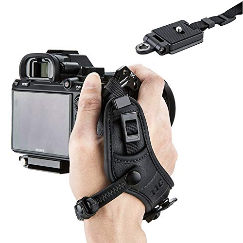 Mirrorless Camera Hand Grip Wrist Strap for Fuji Fujifilm X-T30 X-T20 X-T10 X-PRO2 X-T3 X-T2 Sony a6600 a6500 a6400 a6300 a6100 a6000 A7 II III A7R II III IV A7S II A9 Nikon Z50 Z7 Z6 Sigma FP -Black