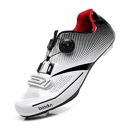 FACAI Zapatos De Bicicleta De Carretera Hombre Ciclismo De Carreras Hebilla De...