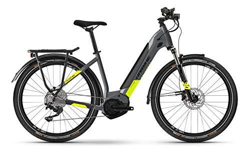 Haibike Trekking 6 Yamaha Bicicleta eléctrica 2021 (27,5 pulgadas LowStep M/50 cm, gris frío/Canary (Lowstep))