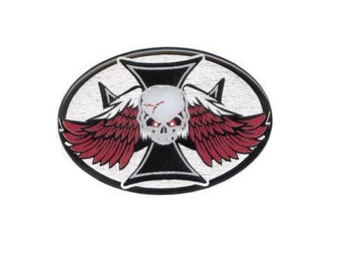 Knockout 135H Abdeckung für Anhängerkupplung, Motiv Totenkopf mit Flügeln