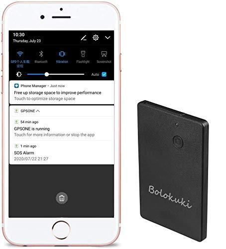 Bolokuki Kids GPS Tracker SOS Localizador personal dispositivo de seguimiento GPS para niños mayores estudiantes Mini GPS Tracker Finder posicionamiento en tiempo real Anti-pérdida GT055