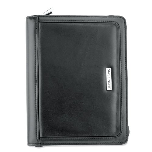 AT-A-GLANCE Day Runner Day Planner, Windsor QuickView, Refillable, Black (101-0299)