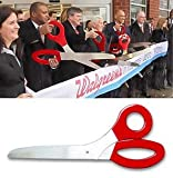 Grand Opening 3 Foot Ceremonial Giant Scissors for Ribbon Cuttings-Traditional Ceremonial Scissors (Red)