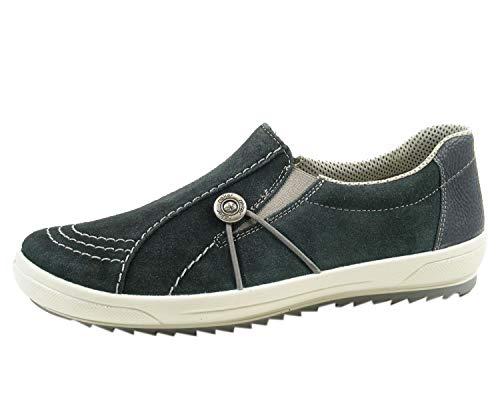 Rieker M6052 Schuhe Damen Slipper, Blau, EU 36 (US 5 1/2, UK 3 1/2)