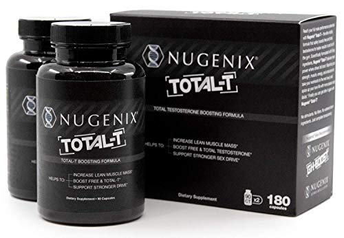 Nugenix Total-T: Men's Total Testosterone Boosting Formula. All New, High Potency, High Bioavailibility Testosterone Boosting Ingredients. Helps with Energy, Muscle, Libido, Stamina,Drive - 2-Pack