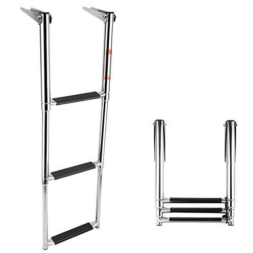 Amarine-made 3 Step Stainless Steel Telescoping Boat Ladder Swim Step