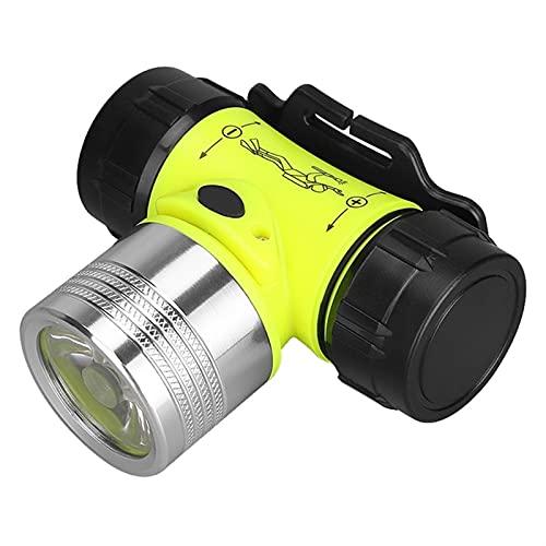 YSJJQSC Linternas Frontales Lámpara de luz de Cabeza de Buceo 4 Modo Impermeable Buceo Natación LED Faro bajo el Agua Lámpara de Pesca Use la Linterna de la batería