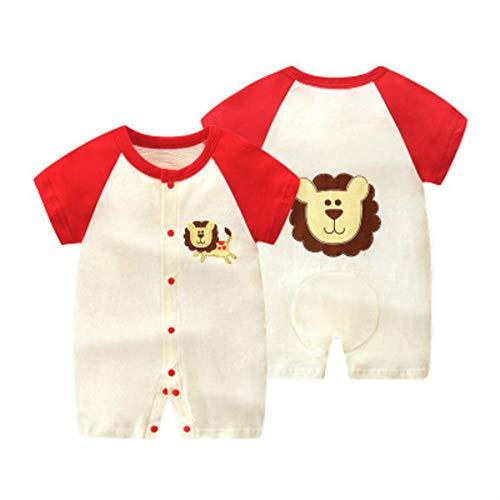 Infant korte mouwen One-Piece rompertjes, Baby body in 100% katoen, Rood en Wit Jumpsuit voor 0-24 maanden