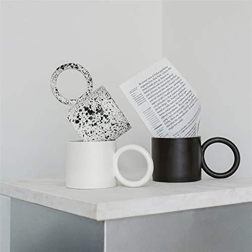 BUGIP Cerámica de empuñadura Redonda Grande Creativa Tazas Taza de café Taza de té de Leche Tazas de Oficina Tazas de Bebida cumpleaños (Capacity : 401 500ml, Color : C)