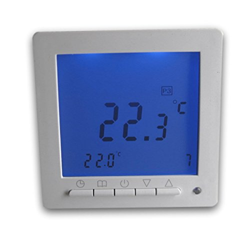 SM-PC®, Digital Thermostat ´Aufputz´ für Fussbodenheizung max 16A, großes Display, Wochenprogramm #ap894