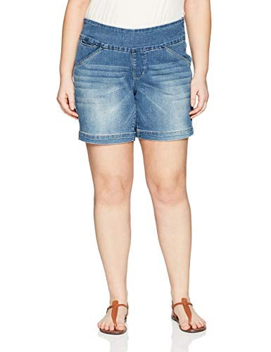 Jag Jeans Women's Plus Size Ainsley 8' Pull on Short, Horizon Blue, 16W