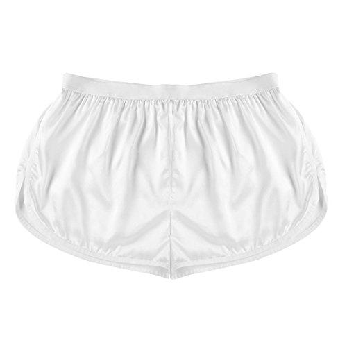 FEESHOW Herren-Shorts, Freizeit-Shorts, Bade-Shorts, Boxershorts, Lounge, Sport, kurze Hose Gr. L/XL, elfenbeinfarben