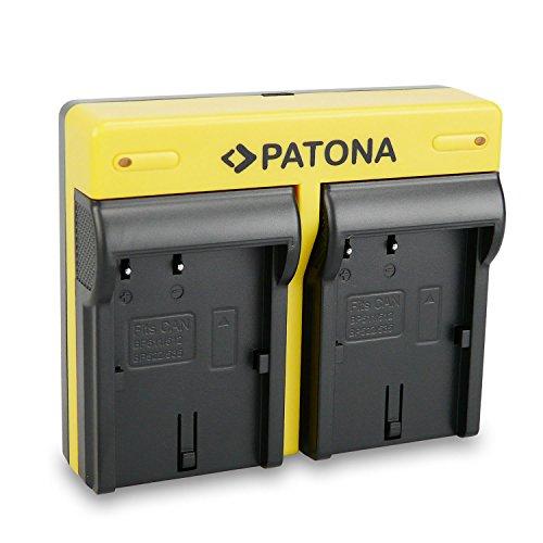 PATONA Dual Cargador para BP-511 Bateria Compatible con Canon 20D, 300D, MV-400, MV500i, PowerShot Pro 90 IS, Pro1, con Micro USB