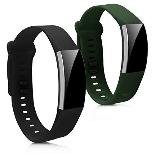 kwmobile Cinturino in Silicone Compatibile con Huawei Band 2   Band 2 PRO - 2X Fascetta Fitness Tracker con Fibbia ca. 16-22 cm