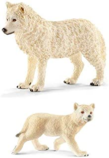 Schleich Sealife Wildlife Arctic Wolf Family Set of Two Parent and Cub 14742 and 14804 Bagged Together Ready to Give! Wild Life!