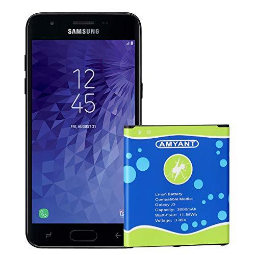 Galaxy J3 Battery, Amyant EB-BG530BBC EB-BG530BBE 3000mAh Replacement Battery for Samsung Galaxy J3 2015 J3 2016 J320V J320A J320F J320P J327A J327P Galaxy On5 Battery/Galaxy Grand Prime G530 Battery