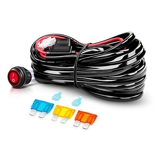 Nilight Off Road ATV/Jeep LED Light Bar Wiring Harness Kit 40 Amp Relay On/off Switch Included