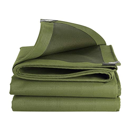 MAGFYLY Grote Camping Tuin Heavy Duty Tent Tarp Waterdicht Outdoor Groen Canvas Tarpaulin met UV-bescherming Ideaal voor Trailers RV Boats of Pool Canopy Cover, Rip and Tear resistant Tarps