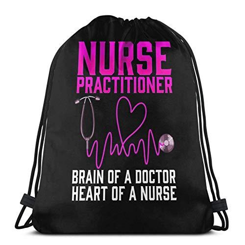 Enfermera practicante camisa lindo regalo enfermera bolsa de deporte gimnasio con cordón Bapa sólido Cinch Pa