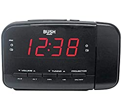An alarm clock that's a little bit different. This clock from Bush projects the time onto the wall, in a place that is convenient to you. It also has a dual alarm and a 20 preset radio stations. There's also a snooze function - great for when you nee...